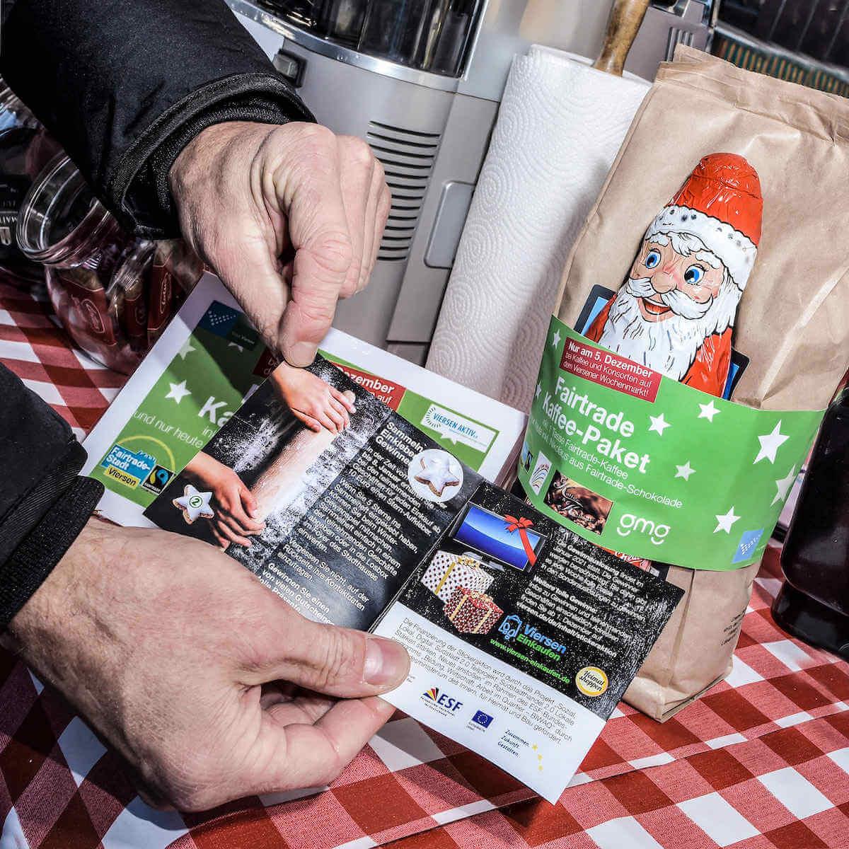 Aktion Fairtrade & Sticker Flyer