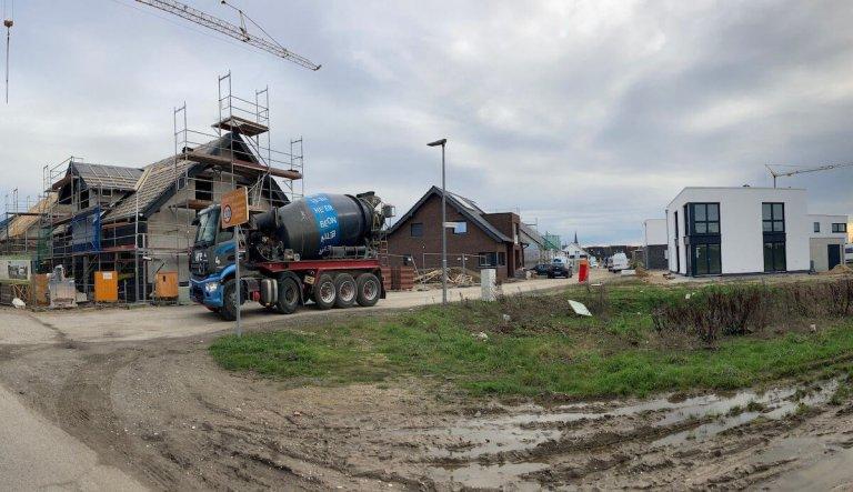 """Bautätigkeiten im Wohnbaugebiet """"Landwehrstraße Süd"""""""