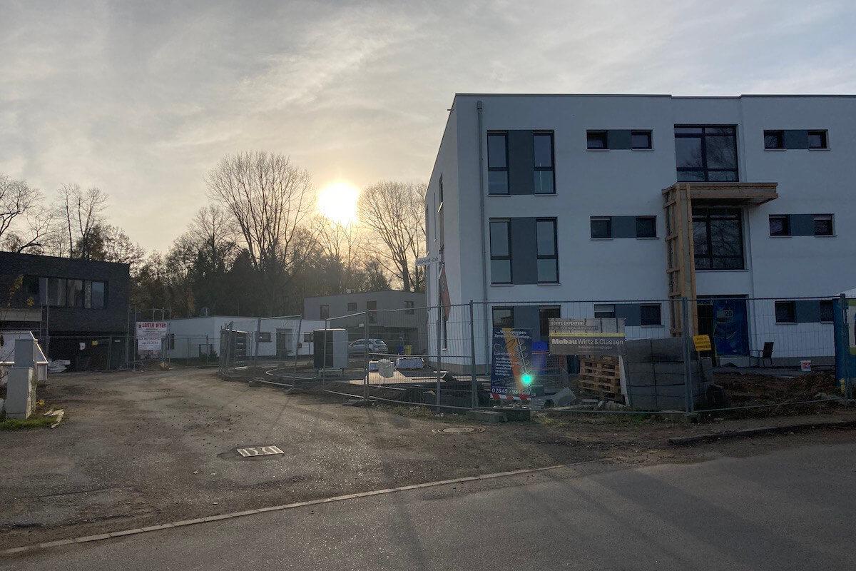 """Endausbau im Wohnbaugebiet """"Wohnpark an den Höhen"""" Hochbauten"""