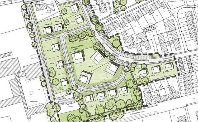Wohnpark an den Höhen - Bebauungsplan vorschau